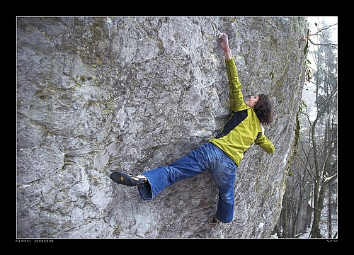 Photos of Adam Ondra - 8B Project in the Moravian Karst