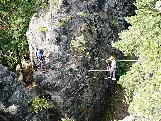 Via ferrata v Lužických a Žitavských horách